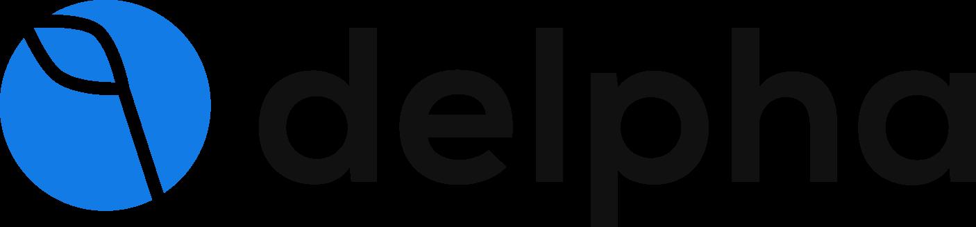 Delpha logo with name